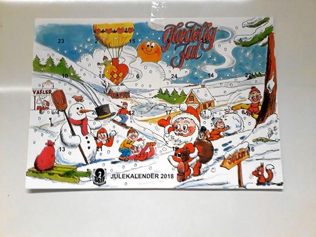 Sådan ser årets udgave af SGIF's julekalender ud. Privatfoto