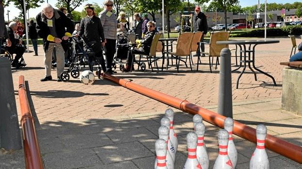 Det var ikke så let, som det så ud, til Bowling konkurrencen. Foto: Niels Helver Niels Helver