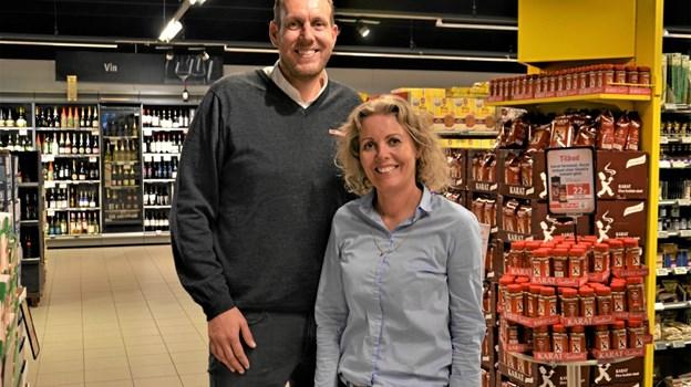 Tine vil mest være i butikken i Suldrup, mens Christian mest vil være i Haverslev. Foto: Jesper Bøss Jesper Bøss