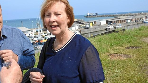 Direktøren for Spar Nord i Hirtshals, Trine Birgit Jensen, som administrerer Fonden fra Hirtshals Sparekasses gavefond. Foto: Jens Brændgaard