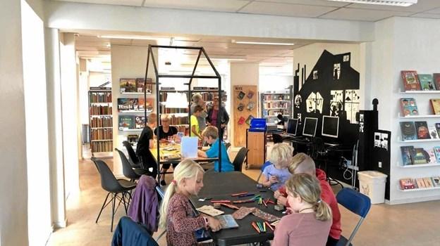 Mange børn i Vesthimmerland har allerede udfoldet deres kreativitet på et af de lokale biblioteker. Privatfoto