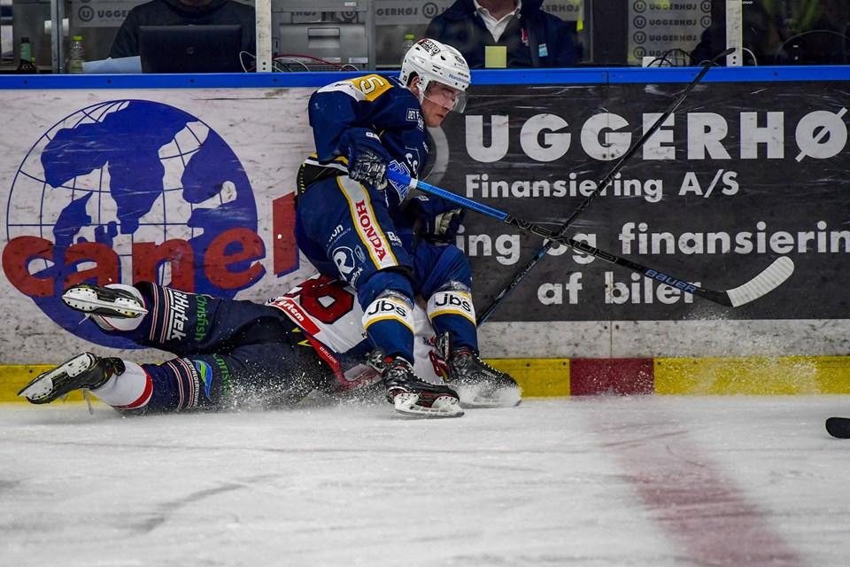 Foto: Kim Dahl HansenFrederikshavn - Kamp i Metal Ligaen i ishockey mellem Frederikshavn White Hawks og Herning Blue Fox.