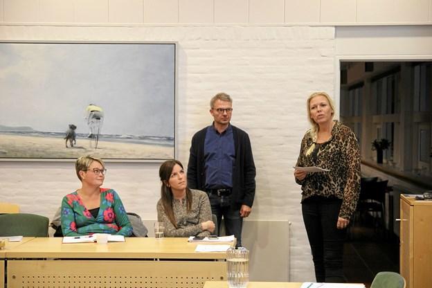 Anne Nøhr Ringgren (t. h.) fortalte om udviklingen i Trekroner. Foto: Flemming Dahl Jensen