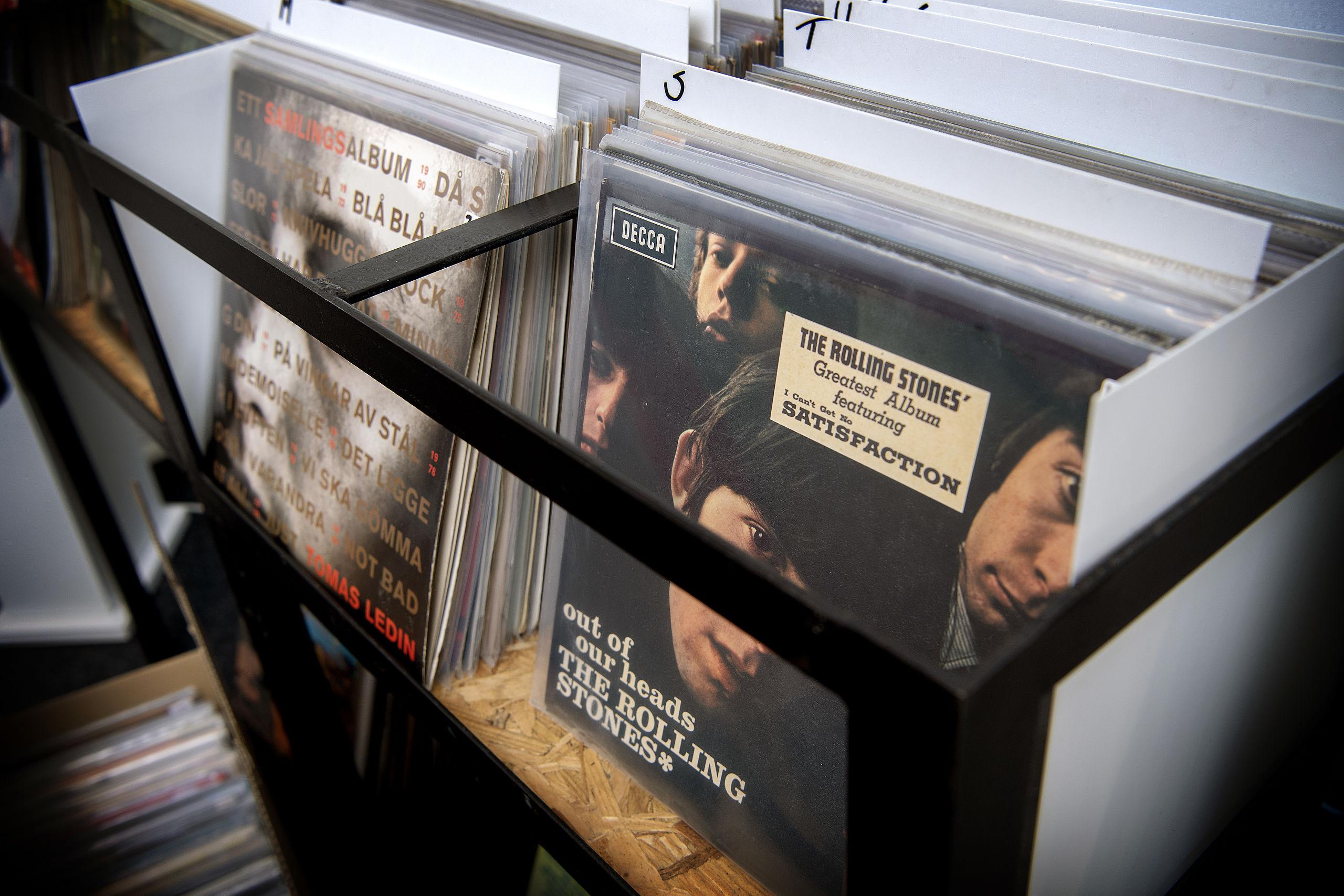 Efter de første måneder blev interessen for at købe lp'er i The Vinyl Road mindre og mindre. Foto: Lars Pauli