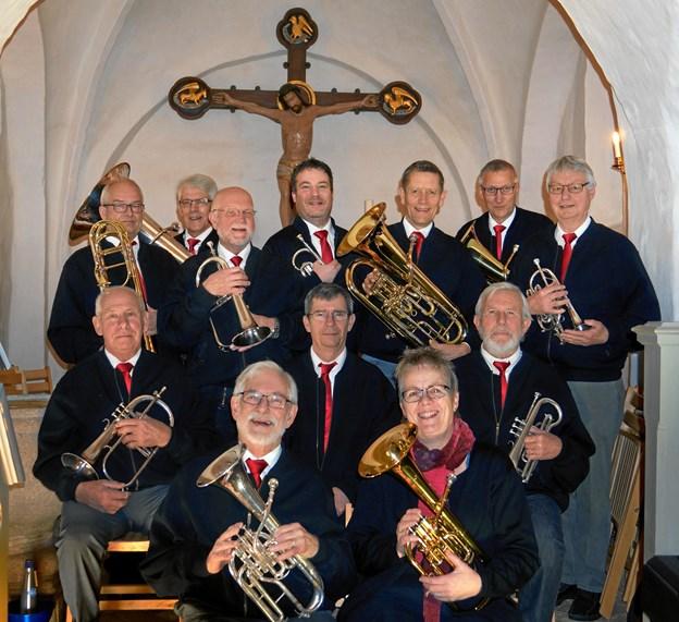 Orkestret PUST er årets underholdende indslag ved forårsfesten for pensionister i Haverslev Hallen. Privatfoto