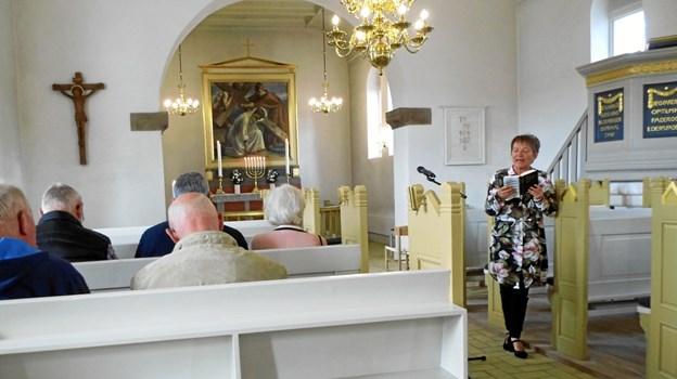 Træf Han Herred blev indledt med morgensang i Fjerritslev Kirke, hvor Inger Øeby Pedersen, der er en af kirkens fire sognepræster, tog imod og fortalte levende om kirken og kirkelivet i 9690-området.