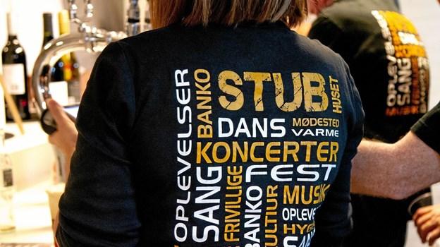 En trøje, der siger meget om aktiviteterne i Stubhuset. ?Foto: Stubhuset Stubhuset