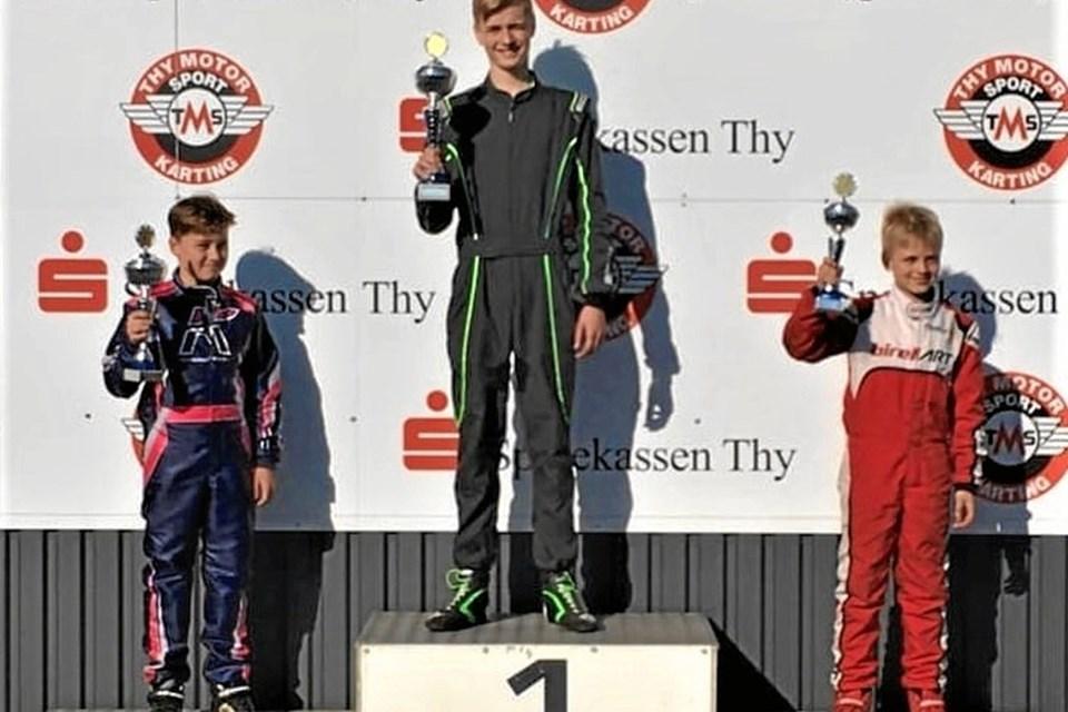 Malte Østergaard Rosenkilde som vinder af Kart Cup Nord i Thy i påsken. Privatfoto