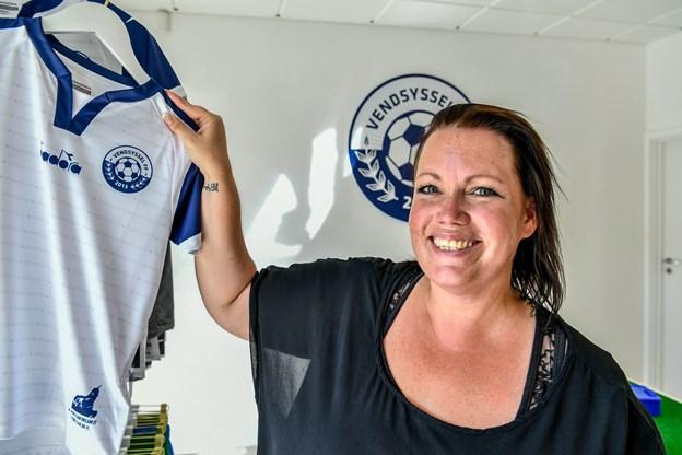 Vendsyssel FF har åbnet ny fanshop i Østergade 43 i Hjørring - her får klubbens salgsadministration også base. Foto: Kim Dahl Hansen