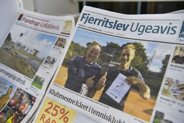 Sidste udgave af den gamle ugeavis. Foto: Claus Søndberg