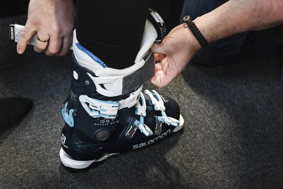 Så er støvlerne på plads, og så er man næsten halvejs. Foto: Bent Bach Bent Bach