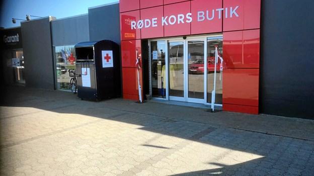 Røde Kors er for nylig flyttet til nye lokaler på Suderbovej. Privatfoto