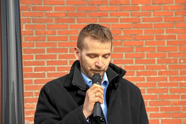 Formanden for byforskønnelsen, Erik Linnet, havde også ordet. Foto: Hans B. Henriksen Hans B. Henriksen