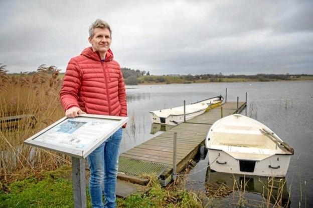 Det gælder om at styrke det gode, det vigtige og det, vi er stolte af, mener Mariagerfjords projektleder på projekt fælles forandring ved Glenstrup Sø, Rasmus Fuglsang Frederiksen. Foto: Hans Ravn