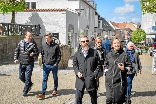 2. maj var butiksejere i Hobros gågade inviteret til workshop og inspirationstur. ?Foto: Mariagerfjord Kommune