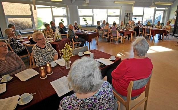 Der møder altid mellem 30 og 40 op, når centerrådet arrangerer aktiviteter i Agersted. Foto: Jørgen Ingvardsen Jørgen Ingvardsen