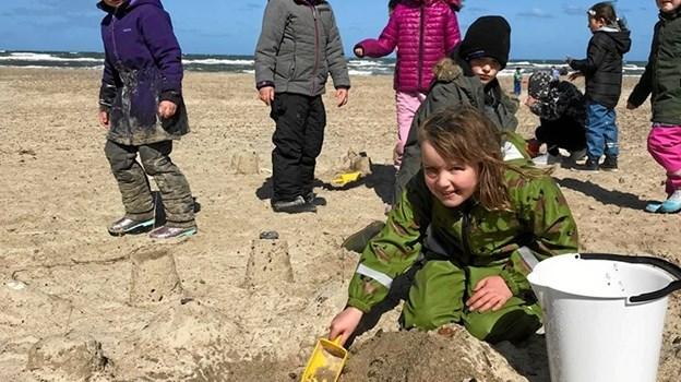 Flotte sandslotte vokser frem. Privatfoto