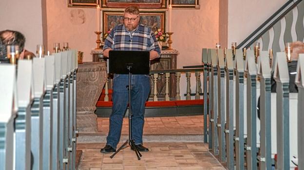 Sognepræst Torben Haar stod for aftens tema, hvor Brorson var i fokus. Foto: Mogens Lynge