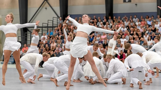 Gymnasterne på DGI Verdensholdet er blandt Danmarks dygtigste og de præsterer både dans, spring og rytmisk gymnastik.Foto: DGI