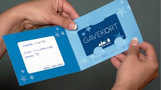 Det nye tank-selv gavekort kan du selv tanke, og hermed har du altid en god gave lige ved hånden. Foto: Aage Møller-Pedersen