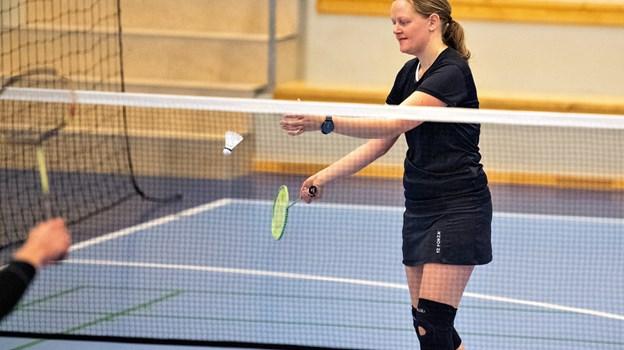 Om formiddagen stod den på badminton.Foto: Kim Dahl Hansen Foto: Kim Dahl Hansen