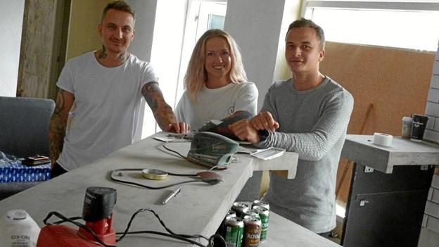 Lige nu sættes i stand - men trioen bag Doffs håber at kunne åbne cafeen udgangen af september. Foto: Jesper Poulsen