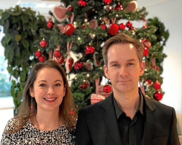 Sangerinden Cathrine Benedikt og pianisten Erik Christensen optræder i Thingbæk Kalkminder til lysfeste. Privatfoto