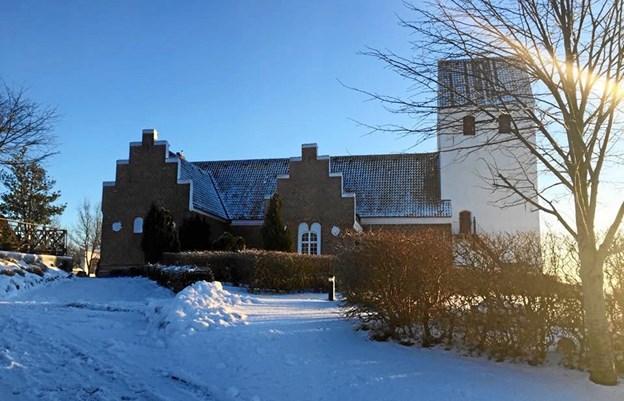 Visborg Kirke danner ramme om en Krea-dag og gudstjenester. Foto: privat.