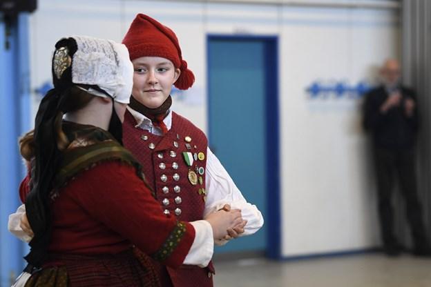 Vinderparret blandt de unge dansere. Foto: Mette Nielsen Foto: Mette Nielsen