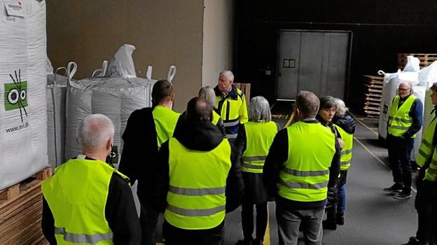 Radikale Venstre i Rebild på virksomhedsbesøg hos Aage Vestergaard Larsen A/S. Privatfoto