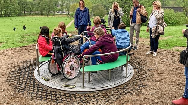Der er også etableret handicapvenlig adgang til den skønneplads i Bangsboskoen