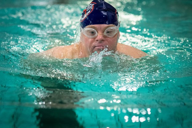 Leif Miller Madsen deltager gerne hver gang i det store stævne for udviklingshæmmede Special Olympics. Foto: Martin Damgård. Martin Damgård