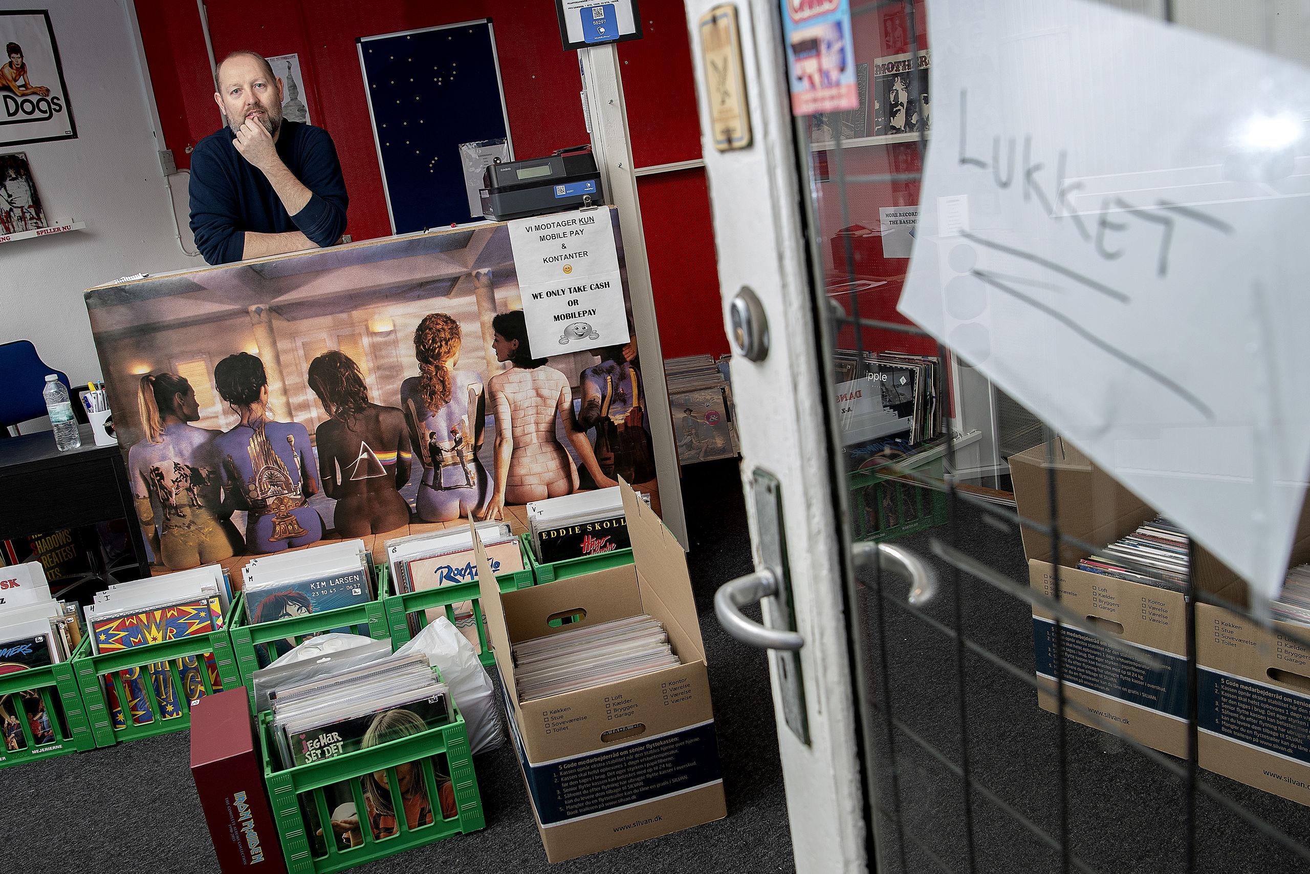 Knap et år blev det til for Bo Larsen som indehaver af The Vinyl Road i Danmarksgade. Foto: Lars Pauli