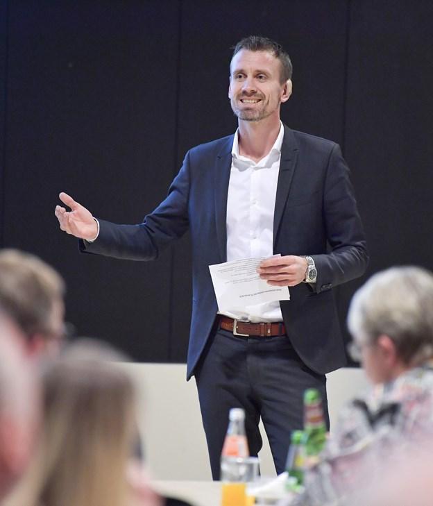 Anders Stryhn, chef for Vækst Jammerbugt, var vært for arrangementet. Foto: Bente Poder