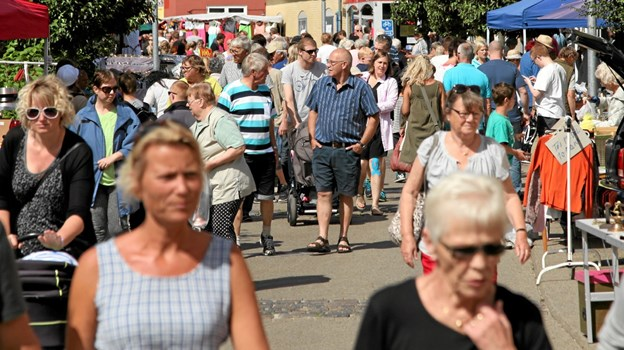 Den 19. juni afvikles det første af i alt ni torvemarkeder i Hals. Foto: Allan Mortensen