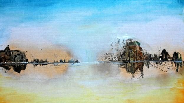 """På udstillingen kan man blandt andet se maleriet """"Mot horisonten"""" af Louise Hävre."""