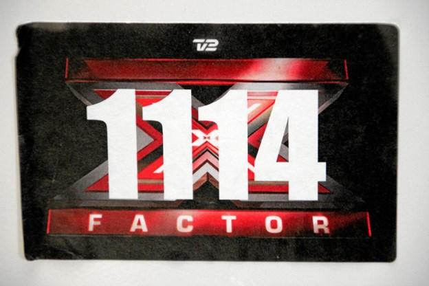 Deltagernummeret fra X-factor har en plads i køkkenet hjemme på Jegindø. Foto: Hans B. Henriksen Hans B. Henriksen