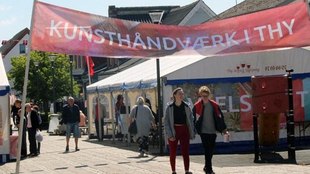 Kunsthåndværkerdagen i Hurup åbnede kl. 12. Foto: Carsten Hougaard