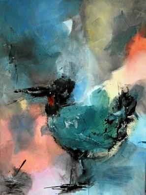 Rita Anderssons malerier er som hovedregel bygget op omkring farver og konturer. ?Privatfoto
