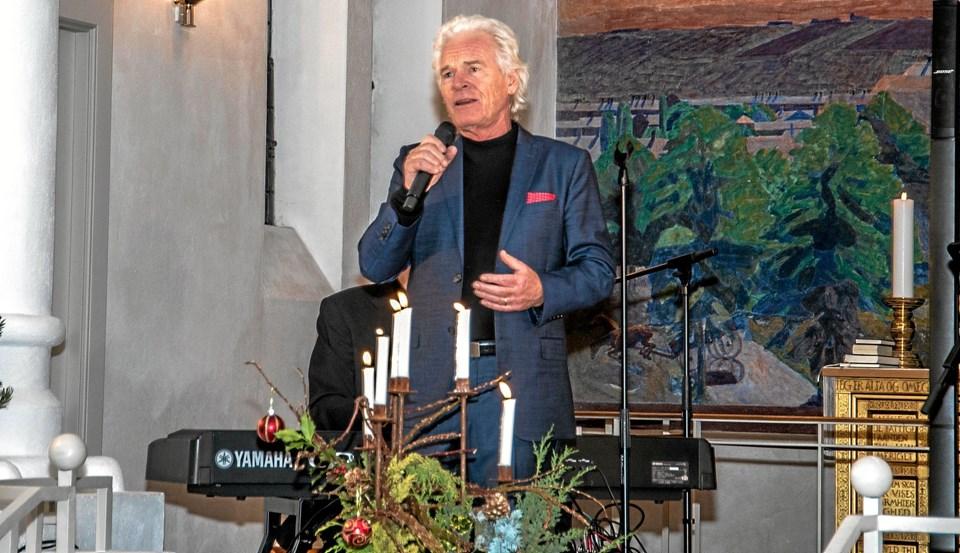 Kurt Ravn havde et smukt julerepertoire, som kom til sin ret i Ranum Kirke. Foto: Mogens Lynge