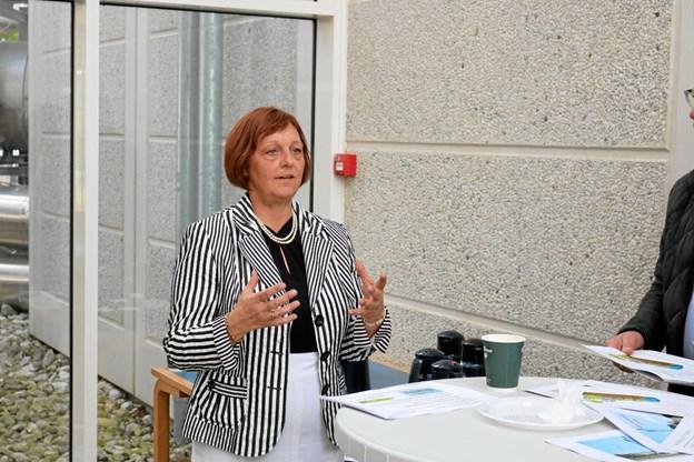 Kvinden bag ECO-Locaxion Gitte Jensen, har knækket koden til hvordan den samme energi kan anvendes til varmeforsyning og datacenter. Foto: Tommy Thomsen