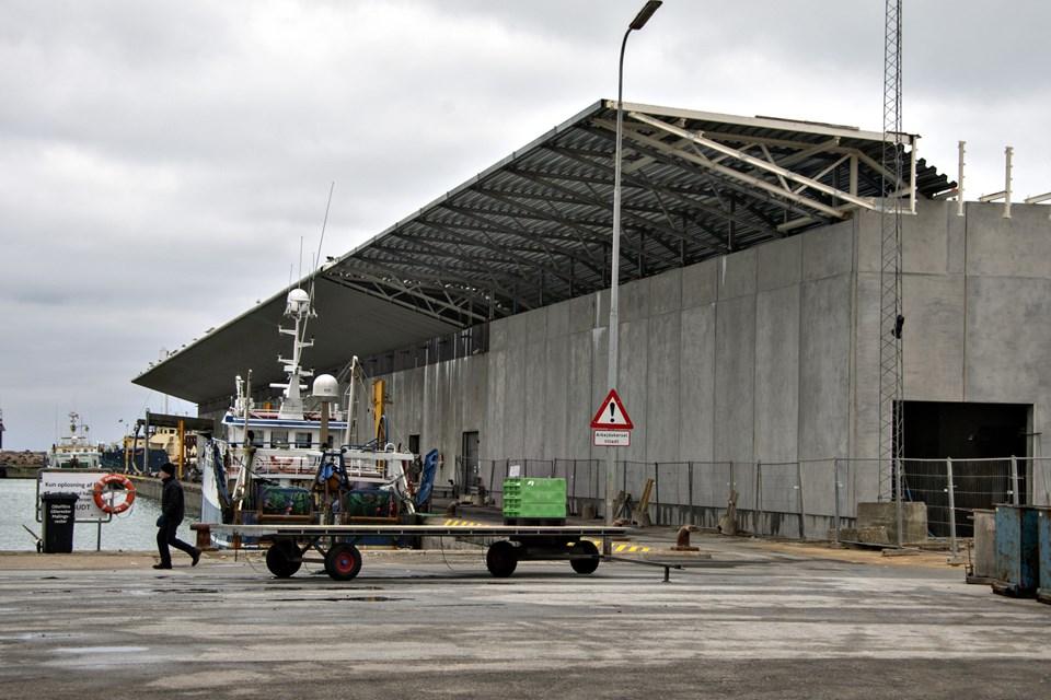 Hirtshals Fiskeriforening vil leje tilbygningen og installere ny kassevask. Foto: Kurt Bering Kurt Bering