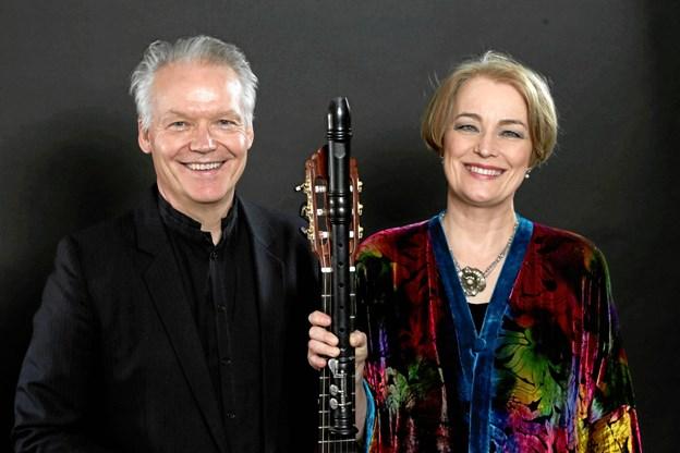Michala Petri og Lars Hannibal kan opleves i Tinghuset 4. februar i Tinghuset. Privatfoto