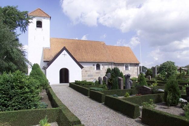 To drenge og en enkelt pige konfirmeres i år i Binderup Kirke Arkivfoto Michael Bygballe