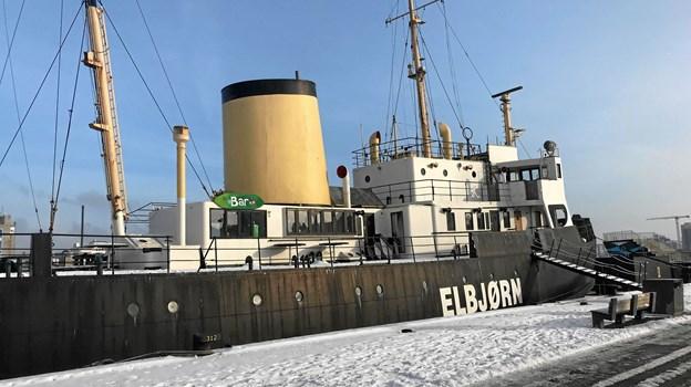Det er ikke godt at vide, hvad der nu venter den gamle isbryder Elbjørn af eventuelle spændende udfordringer, efter at ejerselskabet er taget under konkursbehandling. Foto: Torben O. Andersen