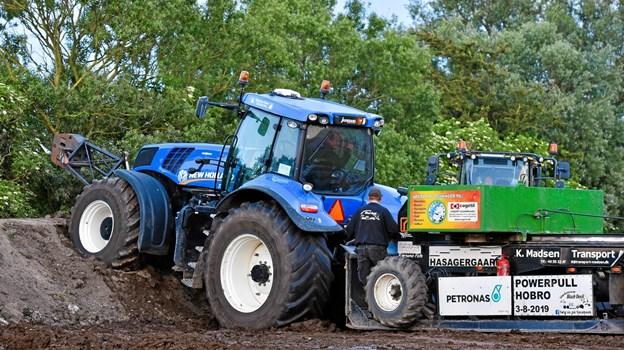 Der var masser af flotte traktorer ved arrangementet. PR-foto.