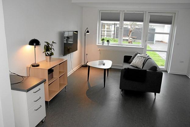 De flotte lejligheder som også har køkken, soveværelse og stort badeværelse. ?Foto: Flemming Dahl Jensen