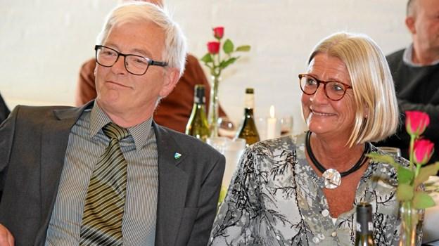 Det var en stor dag for Per og Aino Halsboe. Foto: Flemming Dahl Jensen Flemming Dahl Jensen