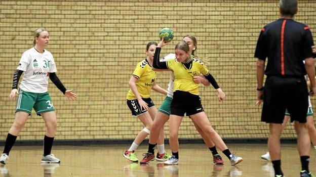 U16-pigerne fra VHG førte med et enkelt mål ved pausen. Foto: Allan Mortensen Allan Mortensen