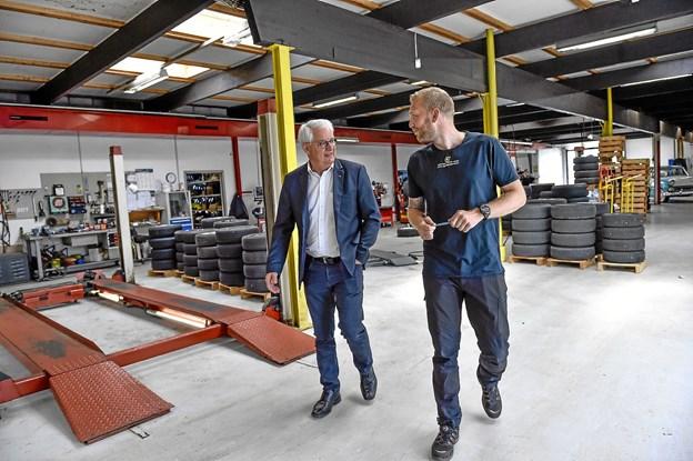 Med lokale investeringskroner forbliver auto og dækfirmaet, med 25 arbejdspladser og afdelinger i tre byer i Thy - på lokale hænder. Foto: Ole Iversen